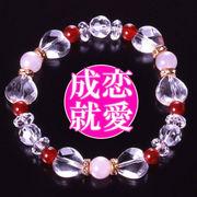 愛情ハートの水晶ブレス<ハッピー・幸運カード付き>