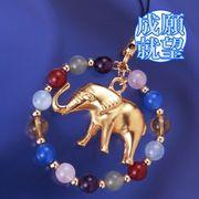 象の幸せ環ストラップ