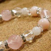 恋愛運 ピンクオパール デザインブレスレット パワーストーン 天然石 腕輪 アクセサリー レディース