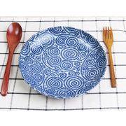 【使い回し度バツグン】 藍染の伝統美 たこ唐草 重宝プレート