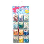 【ブレスレット】誕生石 (色石)12種類(各3本/計36個)&紙製什器&品切れ札セット販売