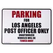 プラスティックサインボード CA-38 ロサンゼルス郵便局員専用駐車場