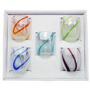 【感謝をこめて沖縄伝統工芸品を贈ります】泡ちゅら風グラス5個ギフトセット