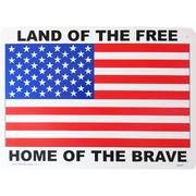 看板/プラスチックサインボード 自由人の国 勇者の故郷(星条旗) Land of the Free CA-47