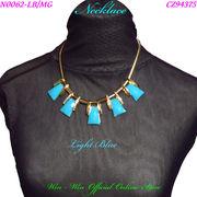 ネックレス ラインストーン付きスクエアデザインのレディ-スファッションネックレス