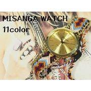 ★日本製ムーブで再入荷★ GENEVAユニセックス腕時計 ミサンガウォッチ ボヘミアンスタイル