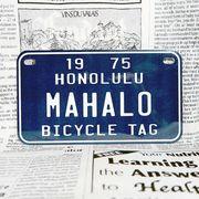 好きな文字にできるアメリカナンバープレート(中・USバイク用サイズ)ハワイ・自転車タグ-青