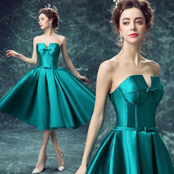 ウェディングドレス 緑ドレス 結婚式 二次会 ドレス 花嫁 豪華なドレス 可愛い