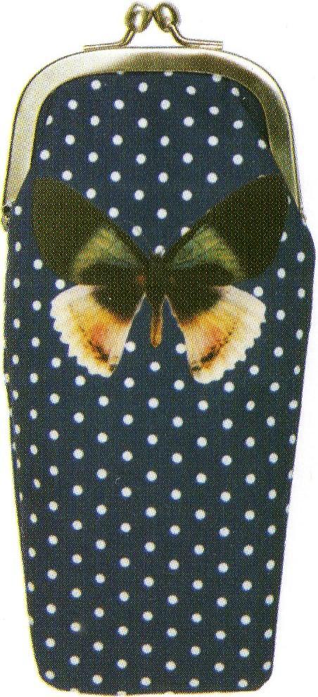 LES INVASIONS EPHEMERES めがねケース 小物入れとして使用可 蝶