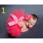 ★ベビー・新生児ファッション★撮影用★赤ちゃん 撮影服★チュールスカート+ヘアバンド