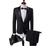 2ピーススーツ ビジネス ダブル 1ボタン メンズ 結婚式 通勤 スーツセットアップ スリム 二次会 就職
