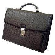 Santa Maria サンタマリア製 オーストリッチ バッグ ビジネスバッグ