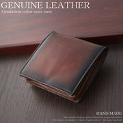 【HAND MADE/ハンドメイド】本革ビンテージグラデーションカラーコインケース
