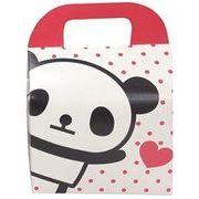 ツイン 『プレゼントなどのラッピングに』 文具シリーズギフトBOX小 ハートパンダ ホワイト GE0592 3A