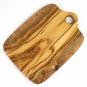 オリーブ木 まな板四角 柄なし 大