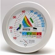 《日本製》【夏場の売れ筋】環境管理温・湿度計「熱中症注意」