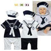 新生児 赤ちゃん ベビー 半袖ロンパース  海軍セット 出産お祝い カバーオール オールインワン 子供服