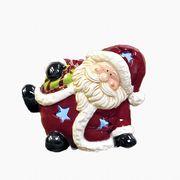 【ウインターフェアセール!】【クリスマス】【陶器 LEDマスコットS】2種