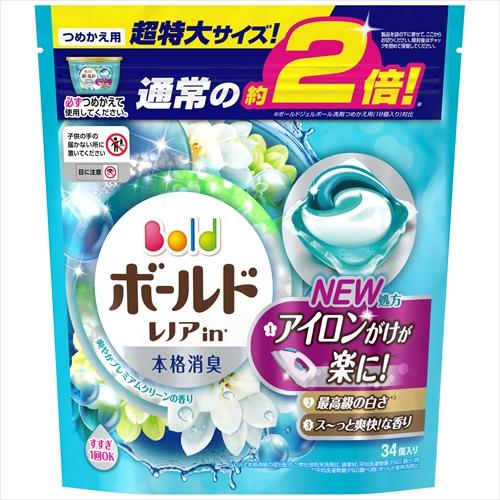 ボールドジェルボール3D 爽やかプレミアムクリーンの香り 詰替用超特大サイズ