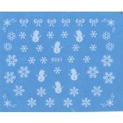 クリスマス 雪の結晶 ウォーターネイルシール ネイル シール ネイルステッカー ネイルシール