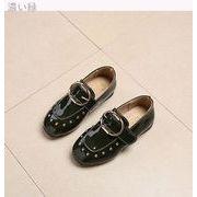 春モデル 韓国風 児童 靴 女児 プリンセスの靴 男児 イングランド リベット 革靴 学