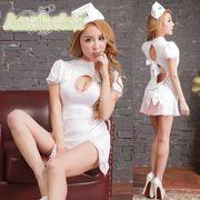 看護婦 ナース 制服 コスチューム コスプレ ハロウィン 仮装 衣装 2点セット bwn1087-2