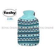 S) 【FASHY】 HWB 67221  ニットマルチカバー 湯たんぽ 2.0L ブルー