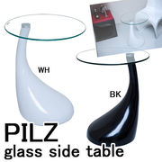 PILZ glass side table サイドテーブル BK/WH