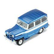 ixo/イクソ ジープ ウィリーズ ステーションワゴン 1960 メタリックブルー/ホワイト