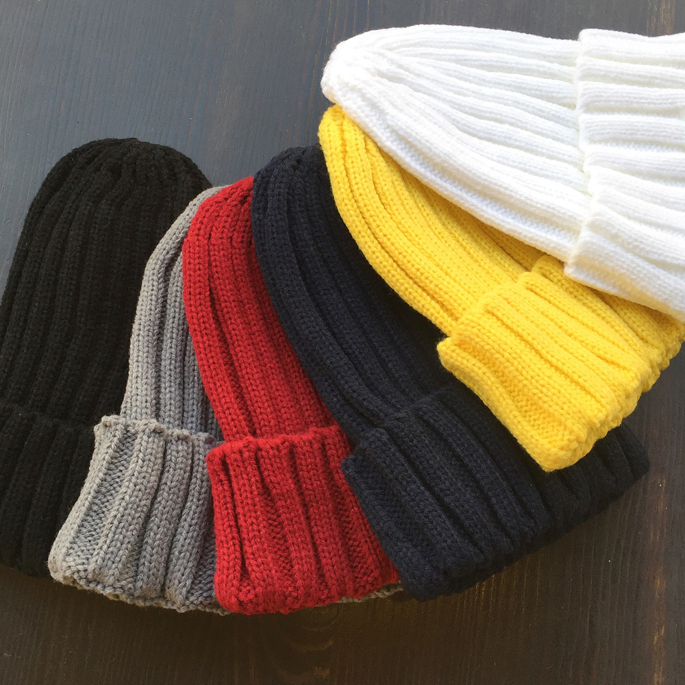 ▼MAGGIO▼【人気カラー6色】オールシーズン使える♪ リブ網みシンプルカラーニット帽