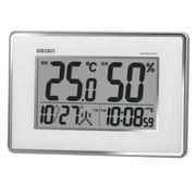 SEIKO セイコー 掛置兼用時計 電波 デジタル カレンダー・温度・湿度 SQ437S