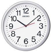 SEIKO セイコー 掛け時計 電波 アナログ オフィスタイプ 銀色メタリック KX229S
