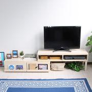 テレビ台 伸縮式 ディスプレイ引出付き TV台 メープル SHIN-TV105MP