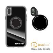 Revolver M6 Len Kit 6in1 iphoneX  -IPLAYBOX ZTYLUS スピードレンズカメラ 切り替え  blachk original