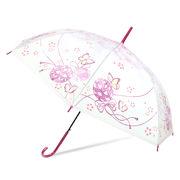 [58cm]可愛いビニール傘 ジャンプ式 和風蝶柄