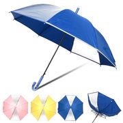 [55cm]傘 キッズ 子供 耐風式 2コマ透 反射テープ付 ジャンプ傘