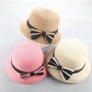 2018年新作★夏季新作 ★ビーチ用★子供用帽子★麦わら帽子★遠足帽子★防UV帽子★4色