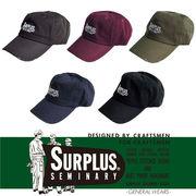 【2017AW新作】『SURPLUS』ピグメントウォッシュ ロゴ刺繍&ダメージ加工入り フルフェイスキャップ