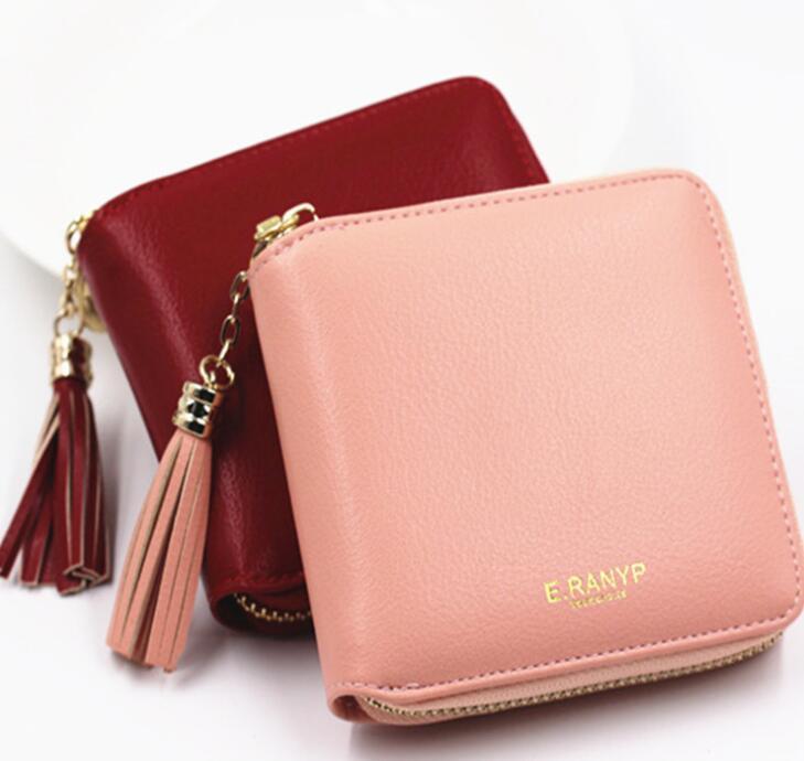 ミニ財布 小さい コンパクト レディース 小銭入れ カード入れ 財布 7色 ファスナー