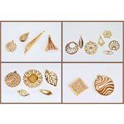 【銅製高品質】 透かしパーツ  極薄メタルパーツ フラワーパーツ 幾何パーツ