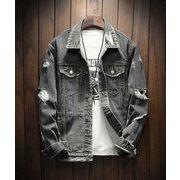 秋冬新作メンズデニム ジャケット 長袖大きいサイズ おしゃれ シンプル カジュアル