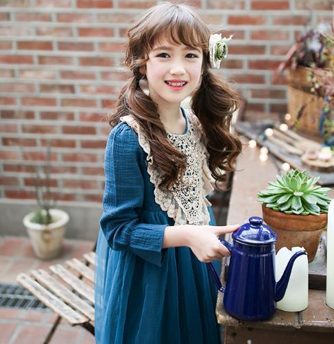b1d7a4ee93987 クラシックワンピース キッズ レース パール ビーズ ワンピ 韓国子供服結婚式発表会七五三 女の子
