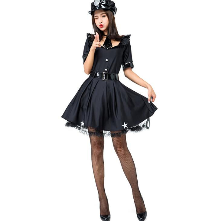女刑事 仮装 ハロウィン コスチューム レディース ハロウィーン 5点セット
