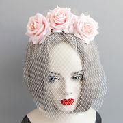 コスプレ 髪飾り 花 面紗 ベール 仮面舞踏会 ハロウィン 仮装パーティ 宴会
