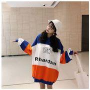 秋冬新商品730199 大きいサイズ 韓国 レディース ファッション ワンピース パーカー  LL-4L