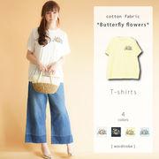 【現物即納】☆2018新作☆FLOWER BUTTERFLY Tシャツ