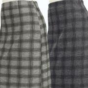 【秋物】レディース スカート 格子柄 ロング丈 タイト風 スカート