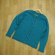 【春物新作】綿100%ニット 前立て透かし編みカーディガン 大きな3Lサイズまで!