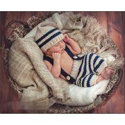 ★赤ちゃん★可愛い新作★手作り★写真の服★撮影★超カワイイベビー服 2点セット ニット 新生児