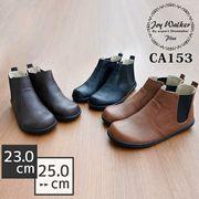 【joy walker PLUS】レディースサイズ サイドゴア コンフォート ショート ブーツ (ブラックソール) 3色